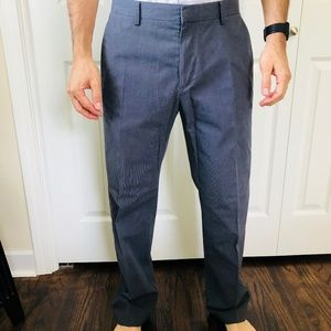 Non-Iron Tailored Fit Gray Dress Pants 32x32